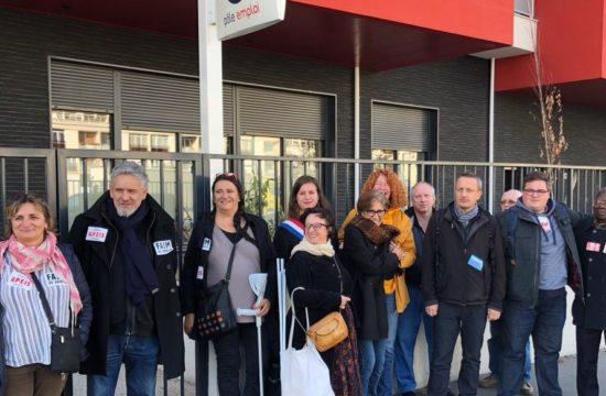 À Vitry pour défendre le service public de l'emploi