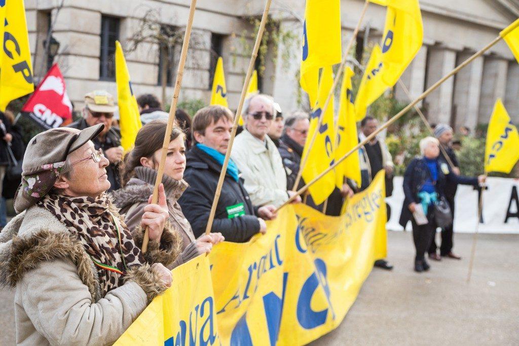 Manifestation contre le chômage et la précarité,